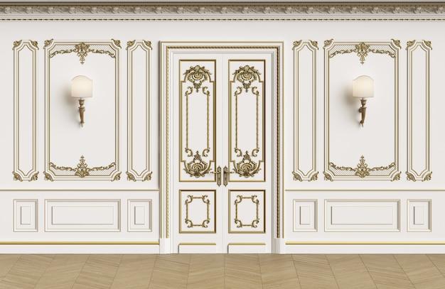 Paredes interiores clássicas com espaço de cópia
