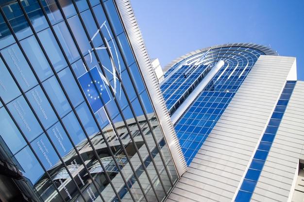 Parlamento europeu em bruxelas. escritório principal na bélgica