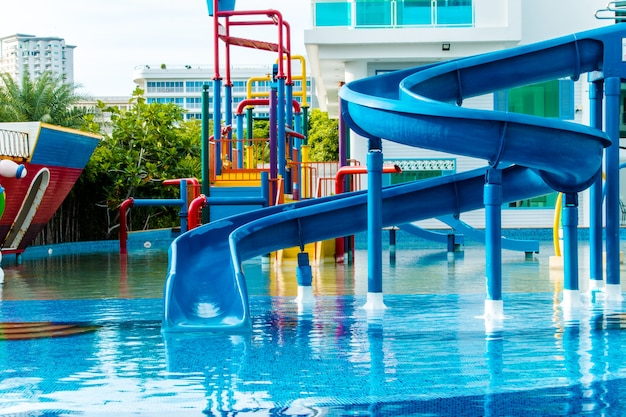 Parque aquático em resort de luxo e hotel, toboágua