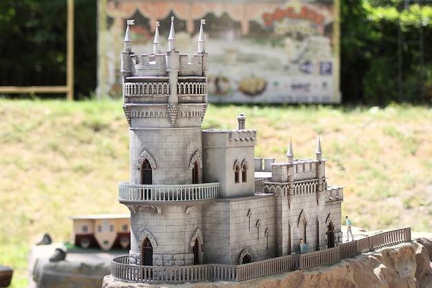 Parque bakhchisarai de miniaturas. castelo lastochkino gnezdo.