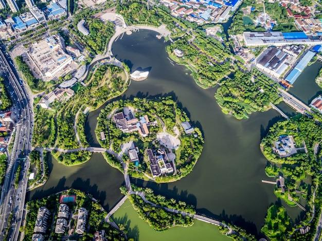 Parque com a cidade