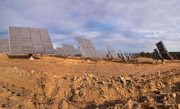 Parque de painéis solares fotovoltaicos