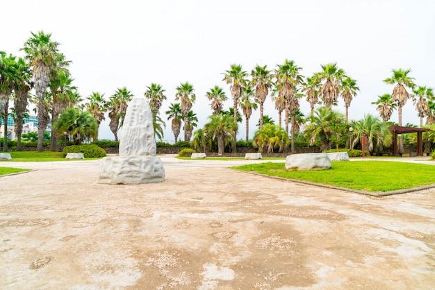 Parque, em, jungmun, daepo, costa, jusangjeolli, penhasco, jeju, ilha