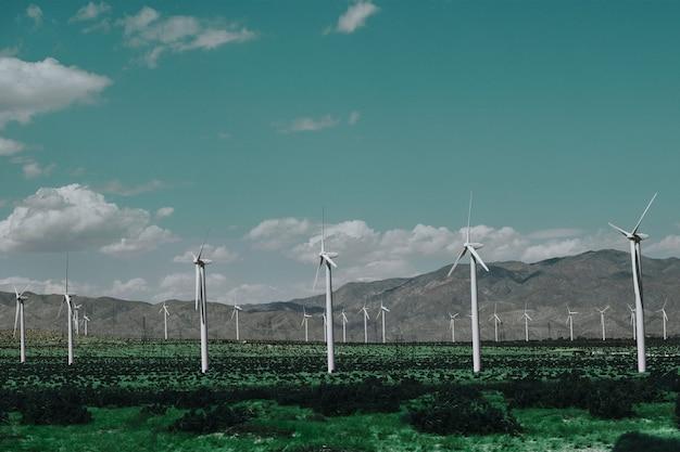 Parque eólico para energia sustentável e renovável