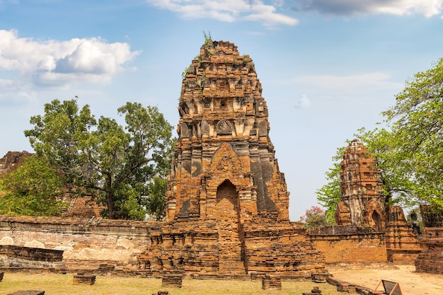 Parque histórico de ayutthaya em ayutthaya, tailândia