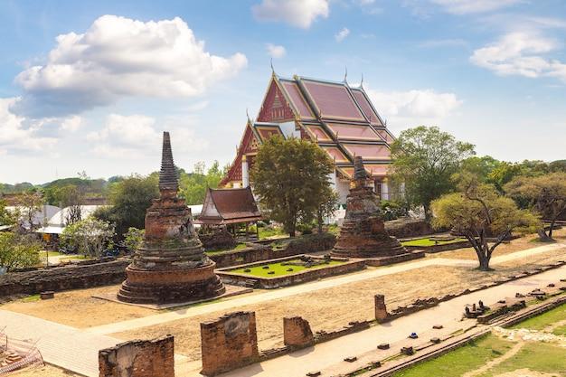 Parque histórico de ayutthaya em ayutthaya