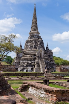 Parque histórico de ayutthaya na tailândia