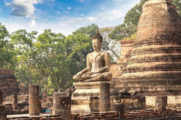 Parque histórico de sukhothai na tailândia