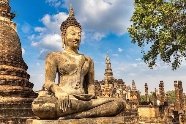 Parque histórico sukhothai, tailândia