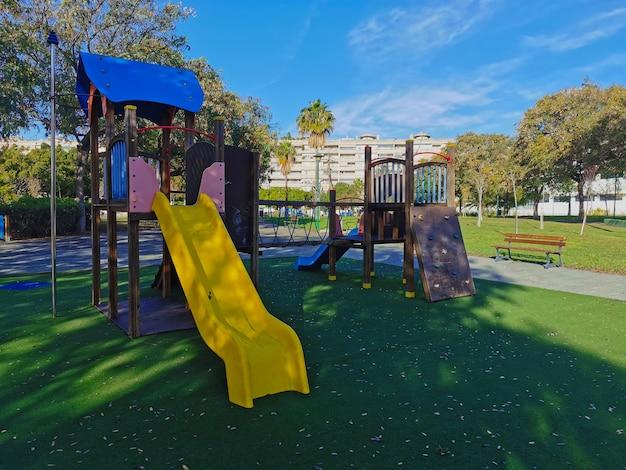 Parque infantil na cidade de málaga, espanha.