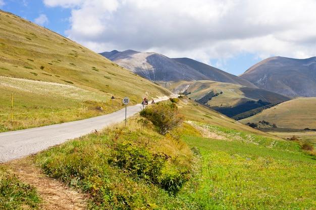 Parque nacional das montanhas sibillini.