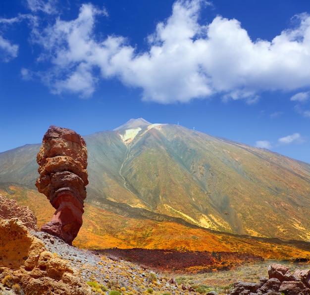 Parque nacional do teide roques de garcia em tenerife