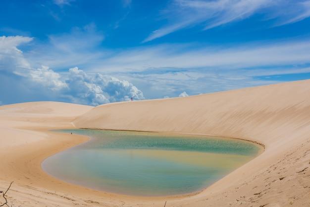 Parque nacional dos lençóis maranhenses é um destino popular para os ecoturistas.