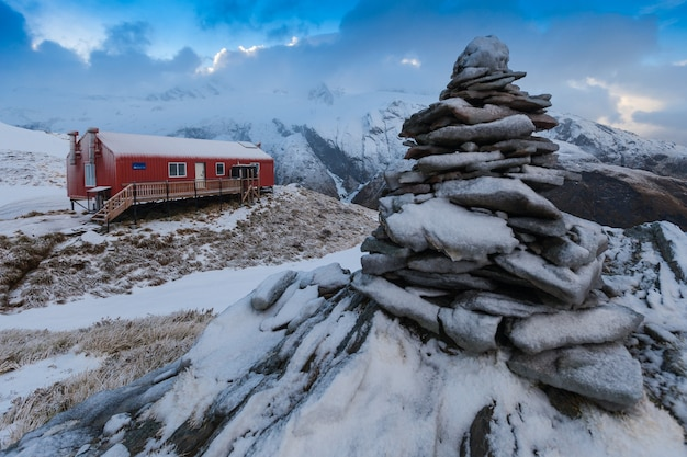 Parque nacional french ridge hut mount aspiring nova zelândia