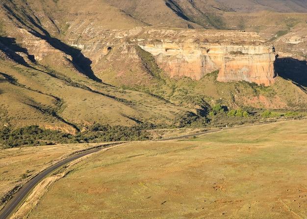 Parque nacional golden gate highlands na áfrica do sul