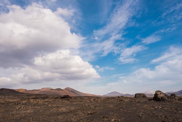 Parque nacional vulcânico de timanfaya em lanzarote
