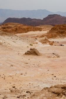 Parque natural timna no deserto do sul de israel.