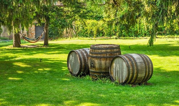 Parque no castelo da vinícola prince trubetskoy em um dia ensolarado de verão