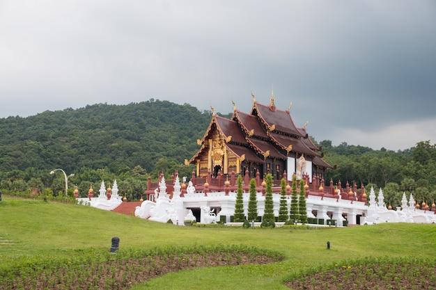 Parque royal flora ratchaphruek em chiang mai, tailândia.