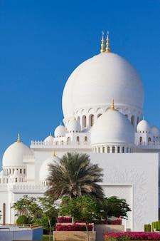 Parte da famosa grande mesquita sheikh zayed, emirados árabes unidos.