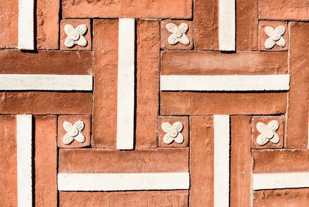 Parte da parede de tijolos no tradicional estilo coreano