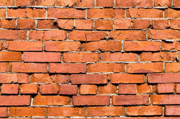 Parte da parede de tijolos