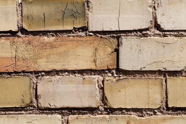 Parte da parede de um edifício feito de tijolos, edifícios urbanos