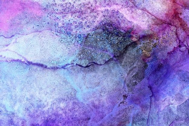 Parte da pintura a tinta original de álcool, foto macro