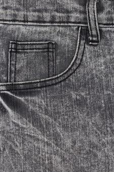 Parte de calça jeans com bolsos
