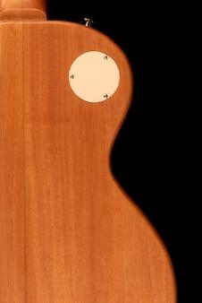 Parte de trás do corpo de uma guitarra elétrica.