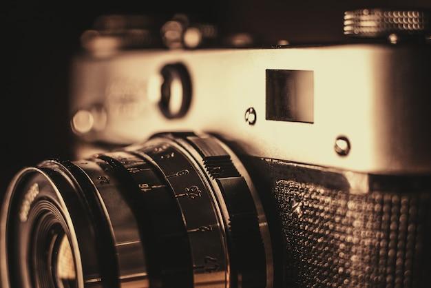 Parte de uma câmera de filme vintage
