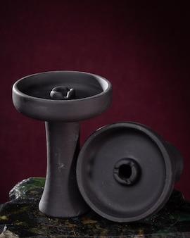 Parte do design moderno do cachimbo de água em um fundo