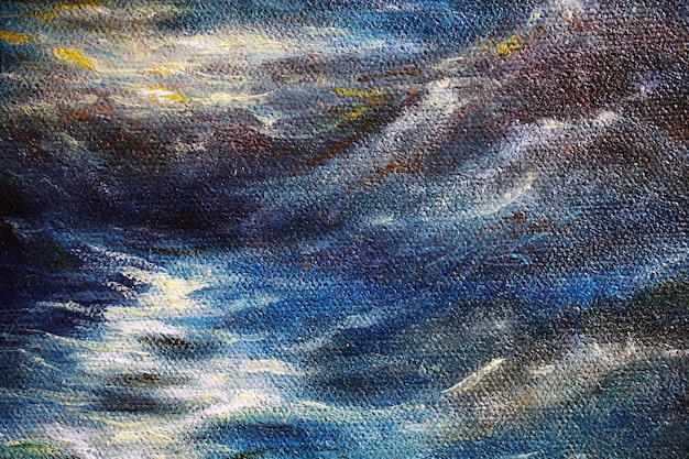 Parte do fundo da pintura a óleo