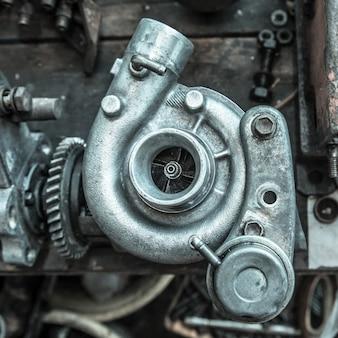 Parte do motor do carro