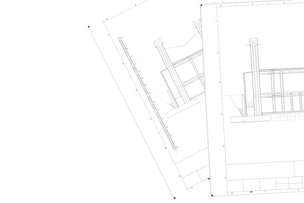 Parte do plano de projeto arquitetônico no livro branco