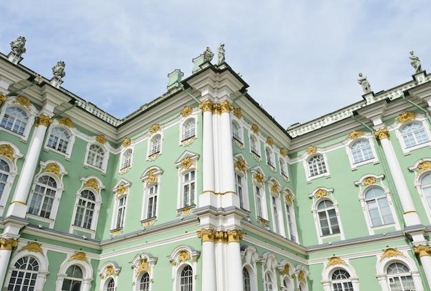 Parte, hermitage, inverno, palácio, st. petersburg, rússia