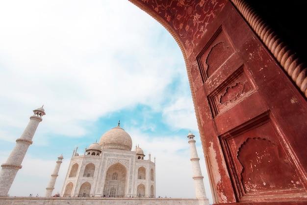 Parte, taj mahal, mesquita, em, agra, índia