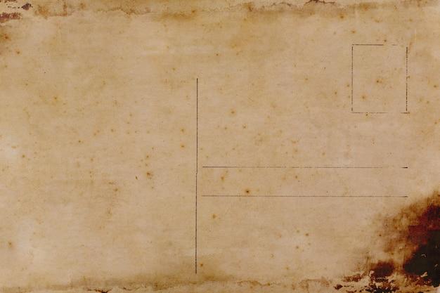 Parte traseira do cartão em branco com mancha suja