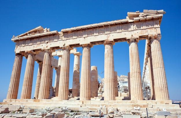Partenon na acrópole, atenas, grécia