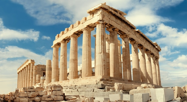 Partenon na acrópole de atenas, grécia