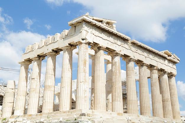Partenon na acrópole de atenas