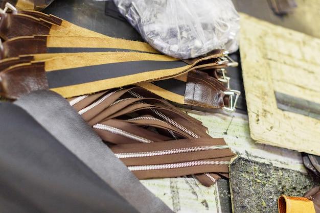 Partes marrons de bolsas