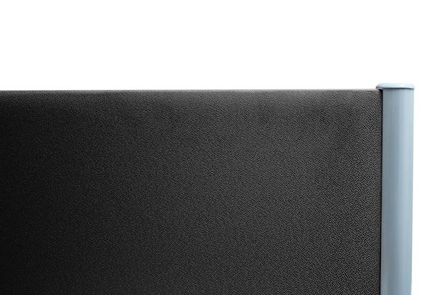 Partição, escritório de partição cor preto escuro isolado no fundo branco