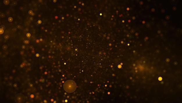 Partículas abstratas ou fundo brilhante