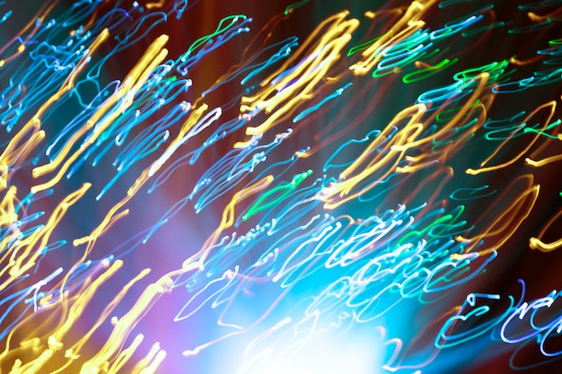 Partículas de fibra óptica instável coloridas