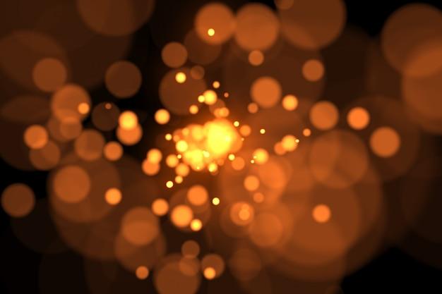 Partículas faíscas pontos brilho câmera lenta fundo 3d ilustração isolada