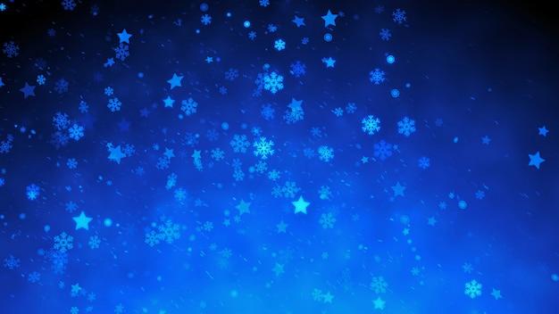 Partículas mágicas de neve