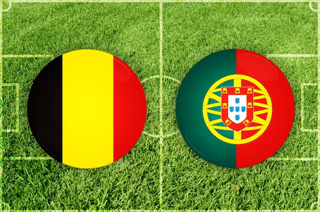 Partida de futebol da bélgica x portugal