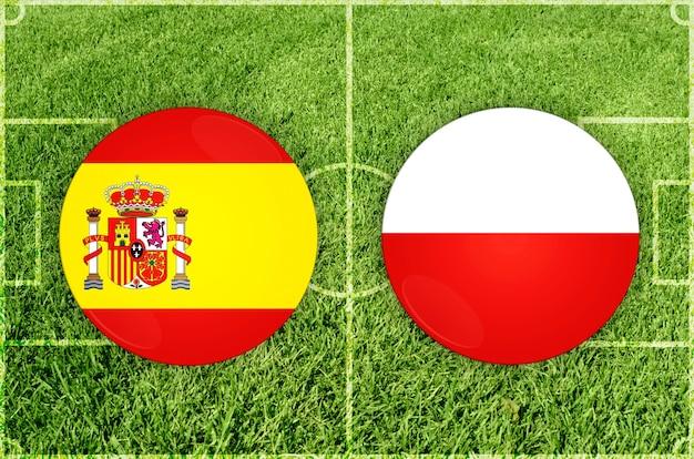 Partida de futebol espanha x polônia