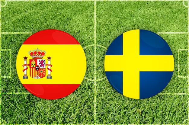 Partida de futebol espanha x suécia